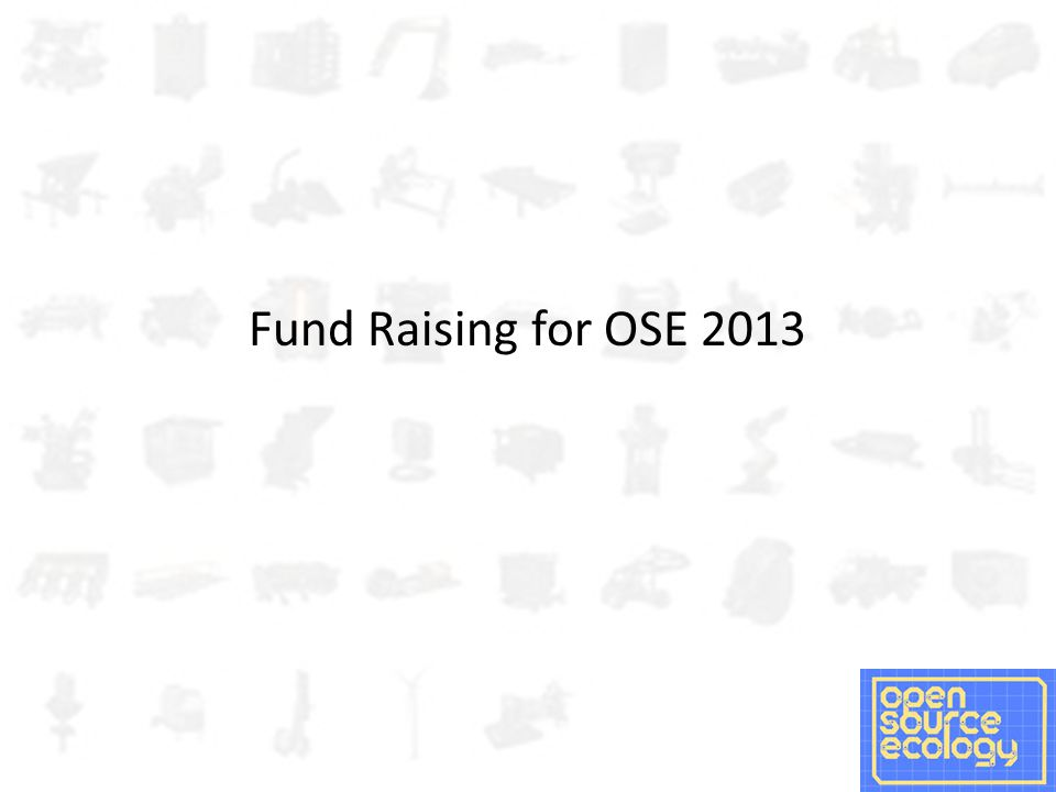 Fund Raising for OSE 2013