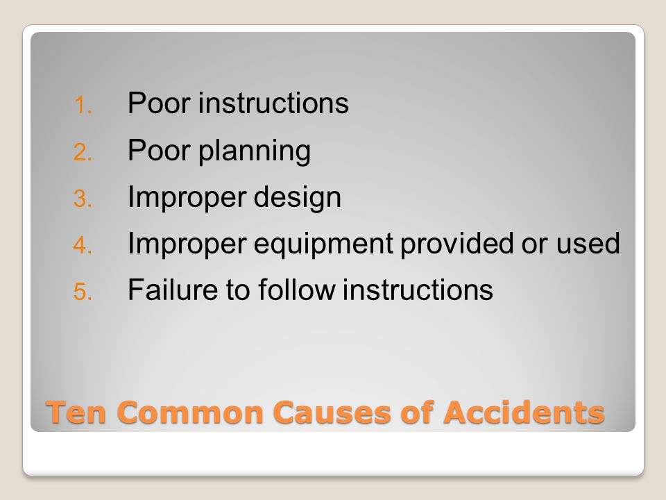 Other Potential Hazards Mechanical Hazards Slips, Trips and Falls ◦ ART - There is an art to preventing slips, trips and falls  Awareness  Responsibility  Traction