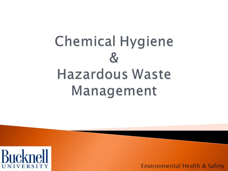  Aqueous (Inorganic) Waste ◦ Acids, bases, and heavy metals ◦ Do not mix acids and bases  Halogenated Organic Waste ◦ Organic compounds that are brominated, chlorinated, fluorinated, iodated  Non-halogenated Organic Waste ◦ All other organic compounds