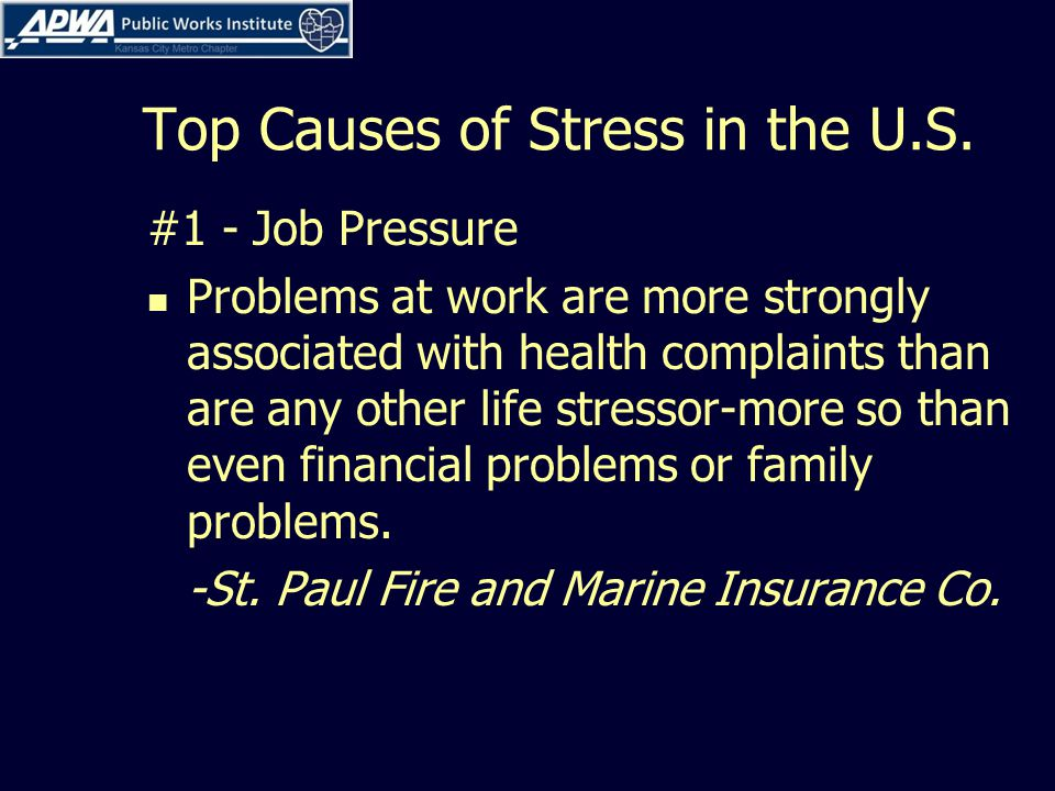 Top Causes of Stress in the U.S.