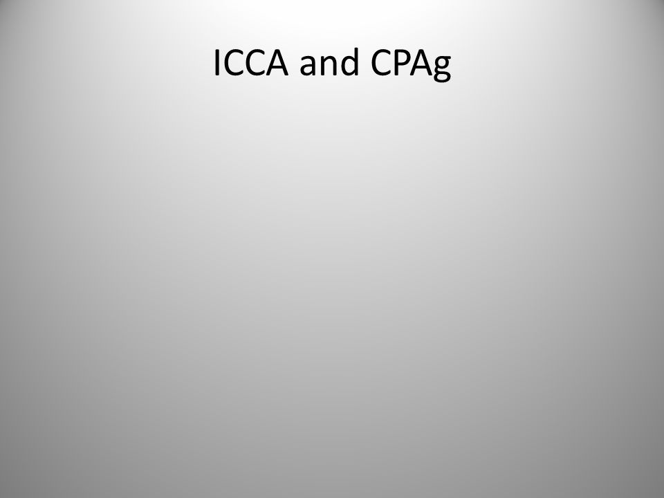 ICCA and CPAg