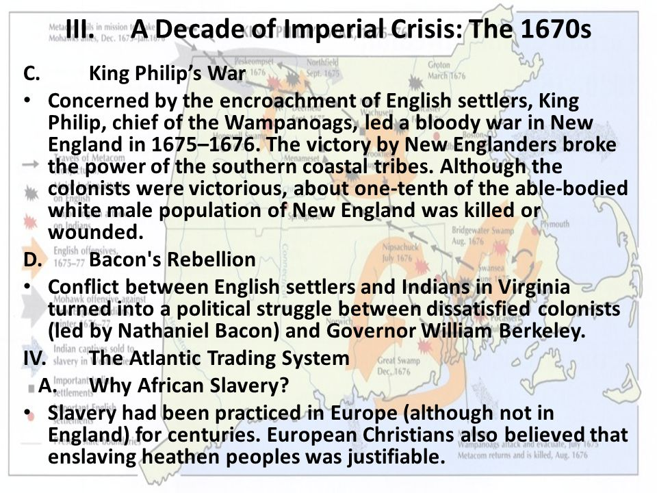 VI.Imperial Reorganization and the Witchcraft Crisis A.Colonial Autonomy Challenged England used its colonies in an attempt to become self-sufficient while maintaining a favorable balance of trade with other countries – an economic theory known as mercantilism.