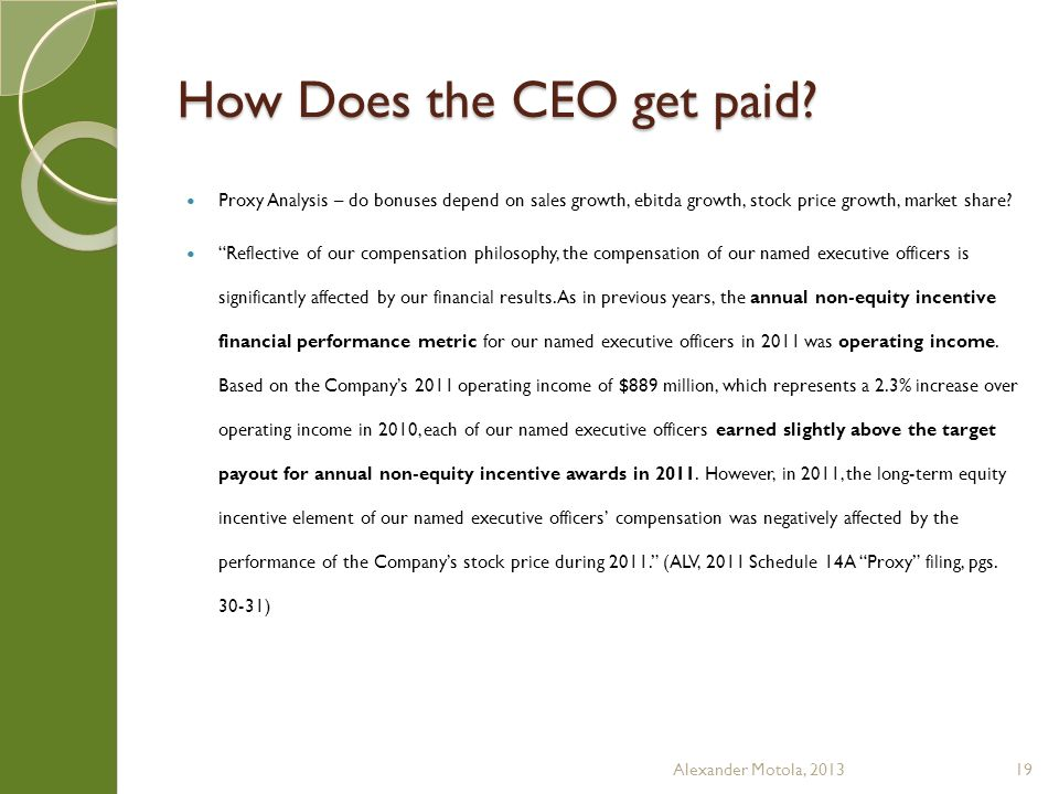 How Does the CEO get paid.