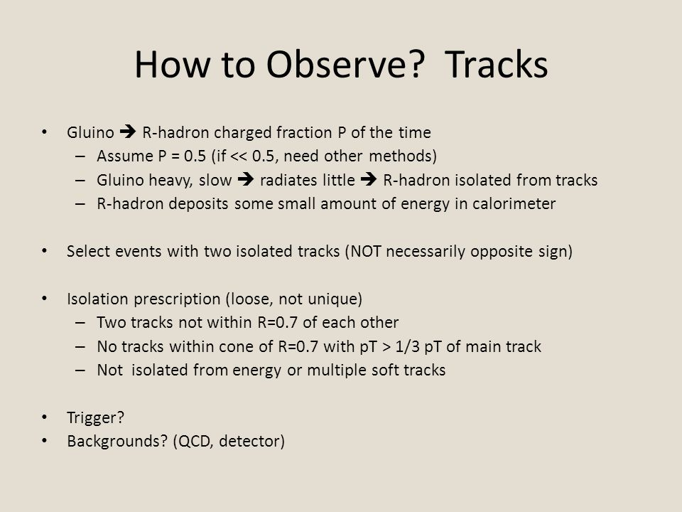 How to Observe.