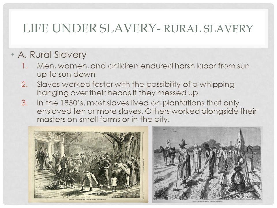 LIFE UNDER SLAVERY- RURAL SLAVERY A.