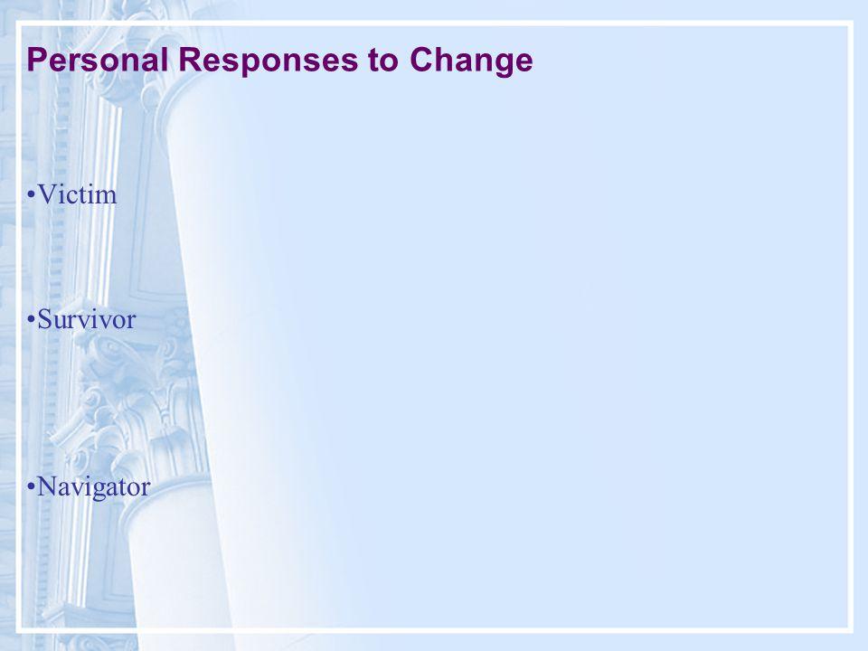 Personal Responses to Change Victim Survivor Navigator
