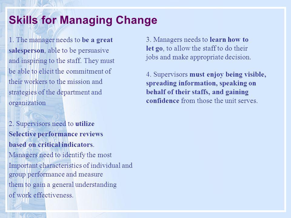 Skills for Managing Change 1.