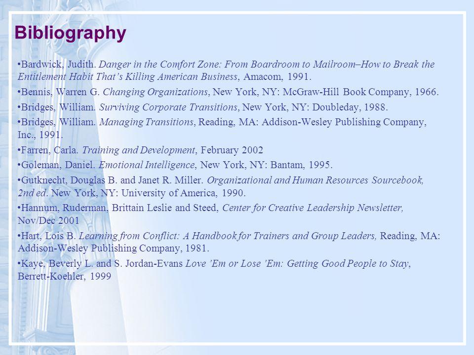 Bibliography Bardwick, Judith.
