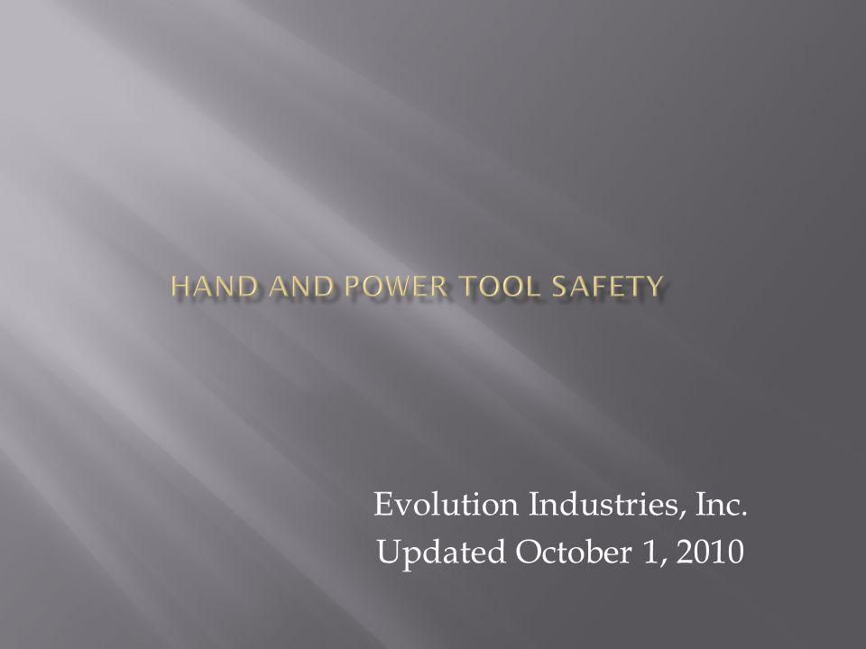 Evolution Industries, Inc. Updated October 1, 2010