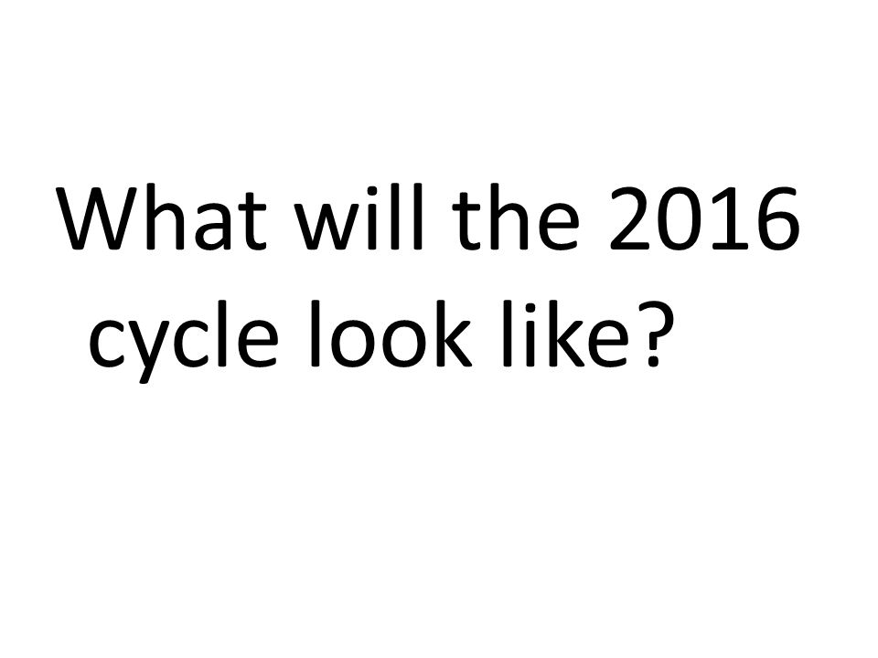 What will the 2016 cycle look like