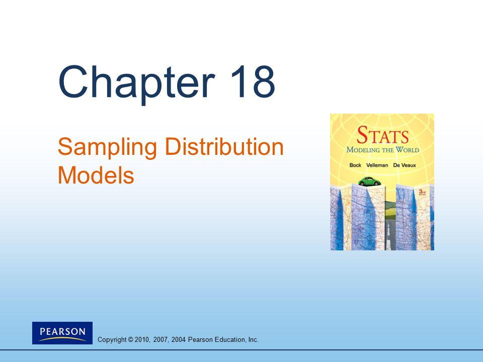 Copyright © 2010, 2007, 2004 Pearson Education, Inc. Chapter 18 Sampling Distribution Models