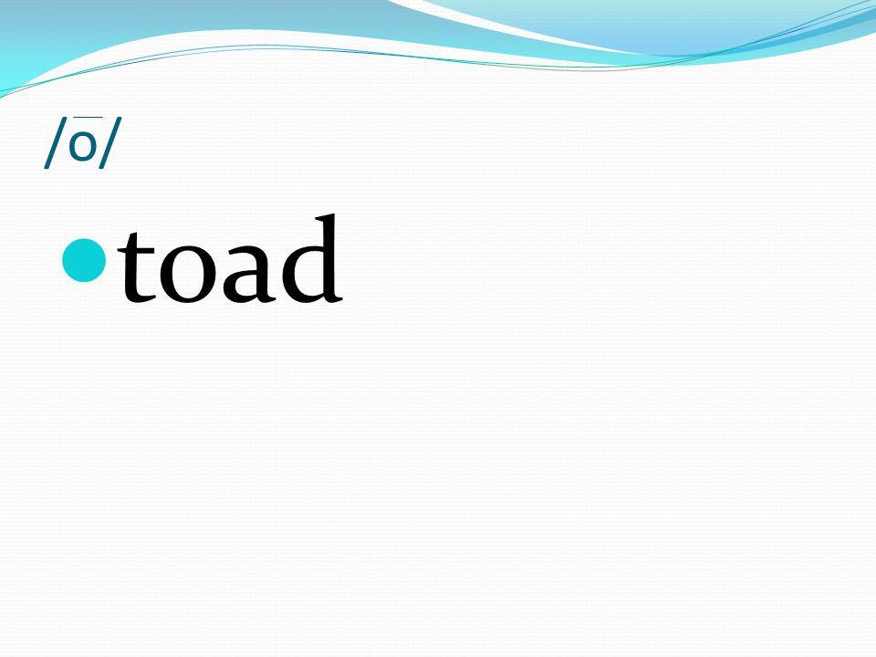 /o/ toad