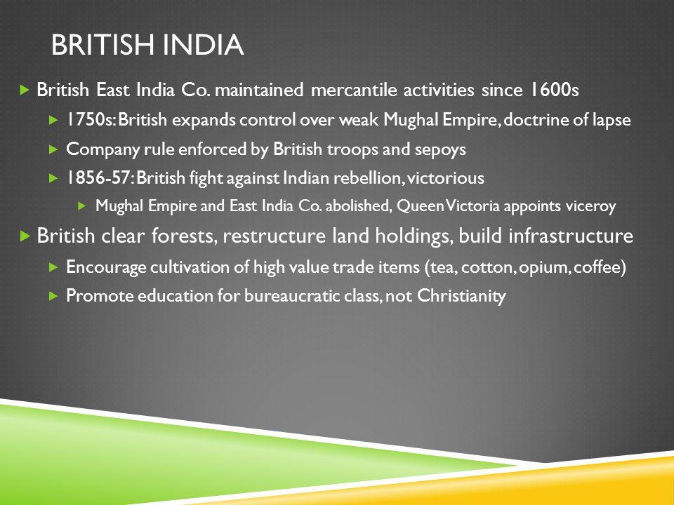 BRITISH INDIA  British East India Co.