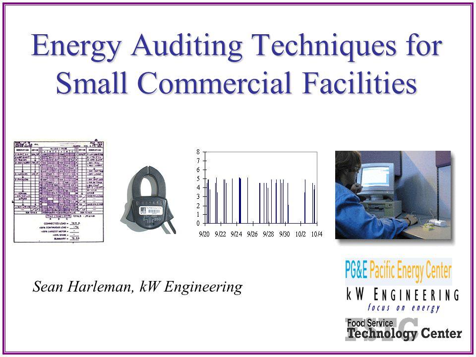Evaporative Pre-Cooling Energy Auditing Techniques