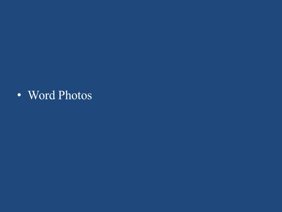 Word Photos