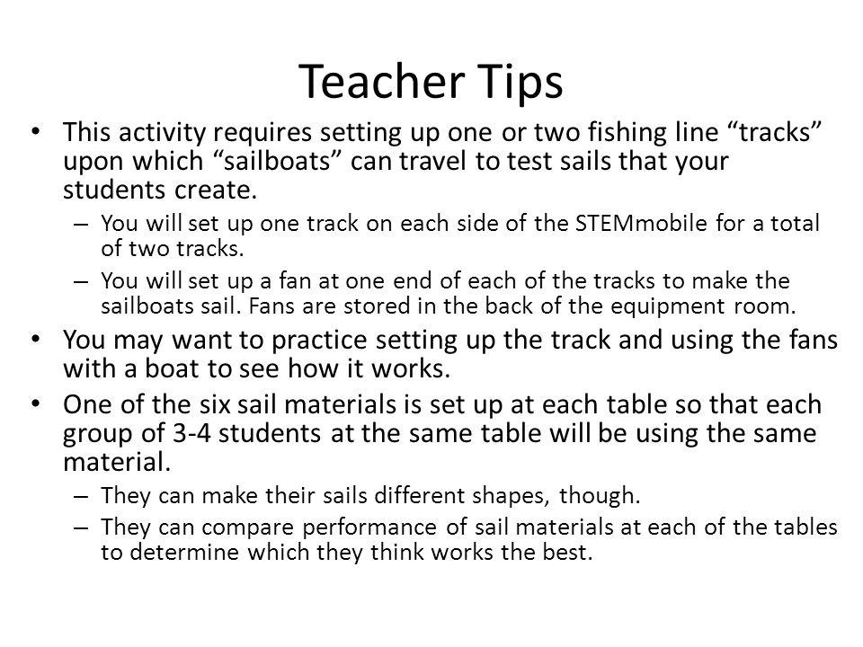 Teacher preparation Assemble materials – place them in each of 6 bins.