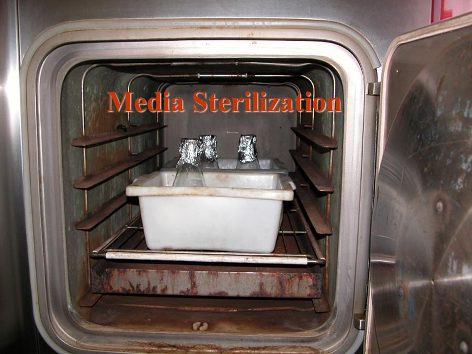 There are two reliable methods used to sterilize microbial culture media: 1.autoclave 2.pressure cooker When using an autoclave, use the wet setting for sterilizing liquids (flasks, bottles, culture tubes, etc), and use the dry setting when sterilizing empty containers, stoppers, etc.