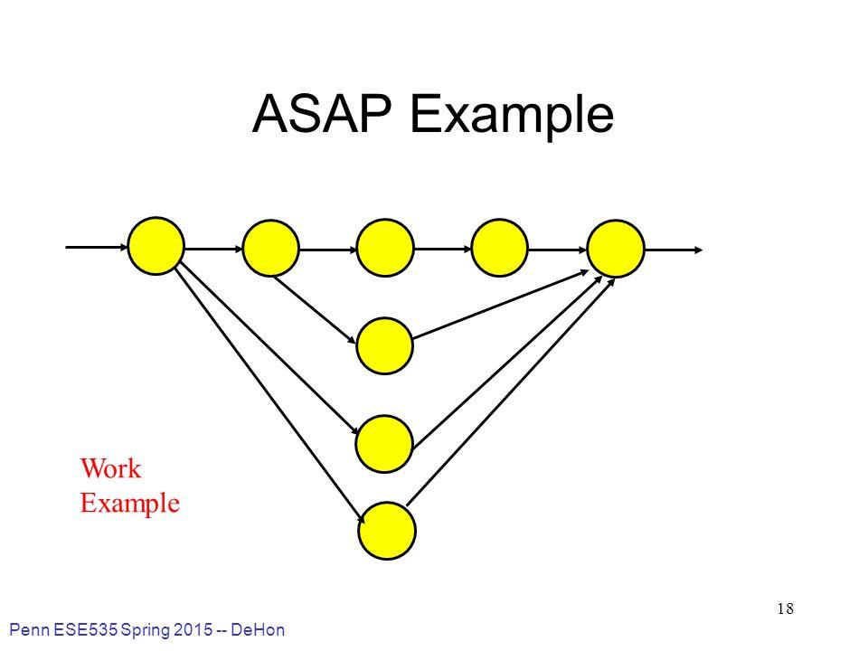 Penn ESE535 Spring 2015 -- DeHon 18 ASAP Example Work Example