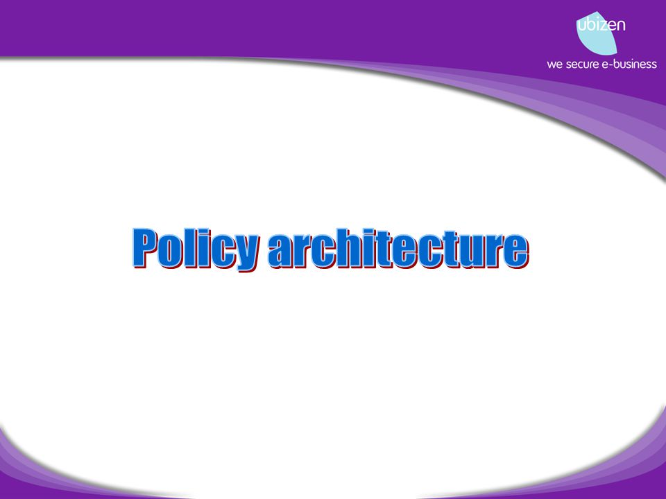 Issues of policy architecture