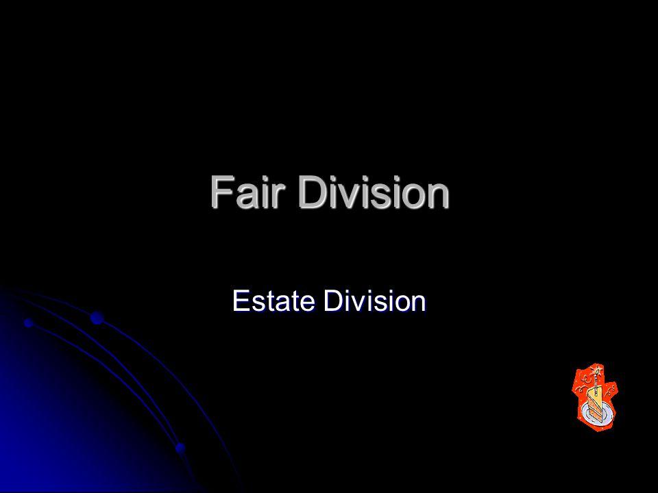 Fair Division Estate Division