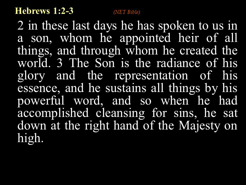 A More Desirable Revelation He is the prophet greater than Moses He is the priest greater than Aaron He is the king greater than Melchizedek