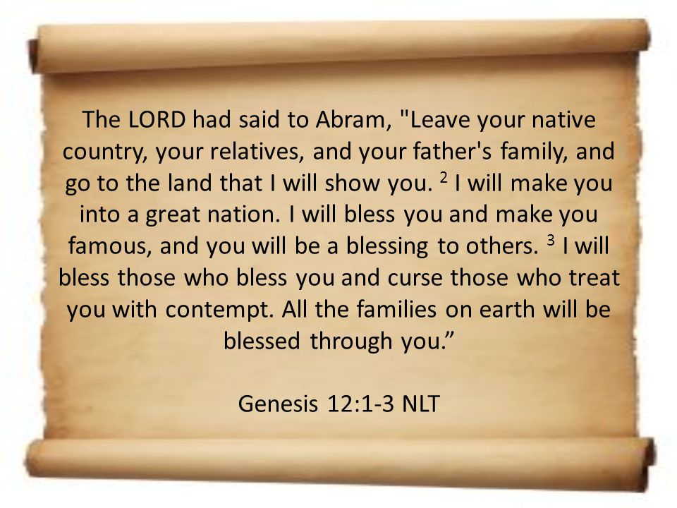 Some time later, the LORD spoke to Abram in a vision and said to him, Do not be afraid, Abram, for I will protect you, and your reward will be great. 2 But Abram replied, O Sovereign LORD, what good are all your blessings when I don t even have a son.