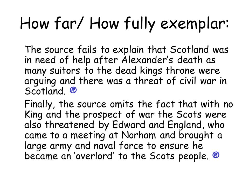 How far/ How fully exemplar: This answer takes 4 source/ hinted source points and develops each.