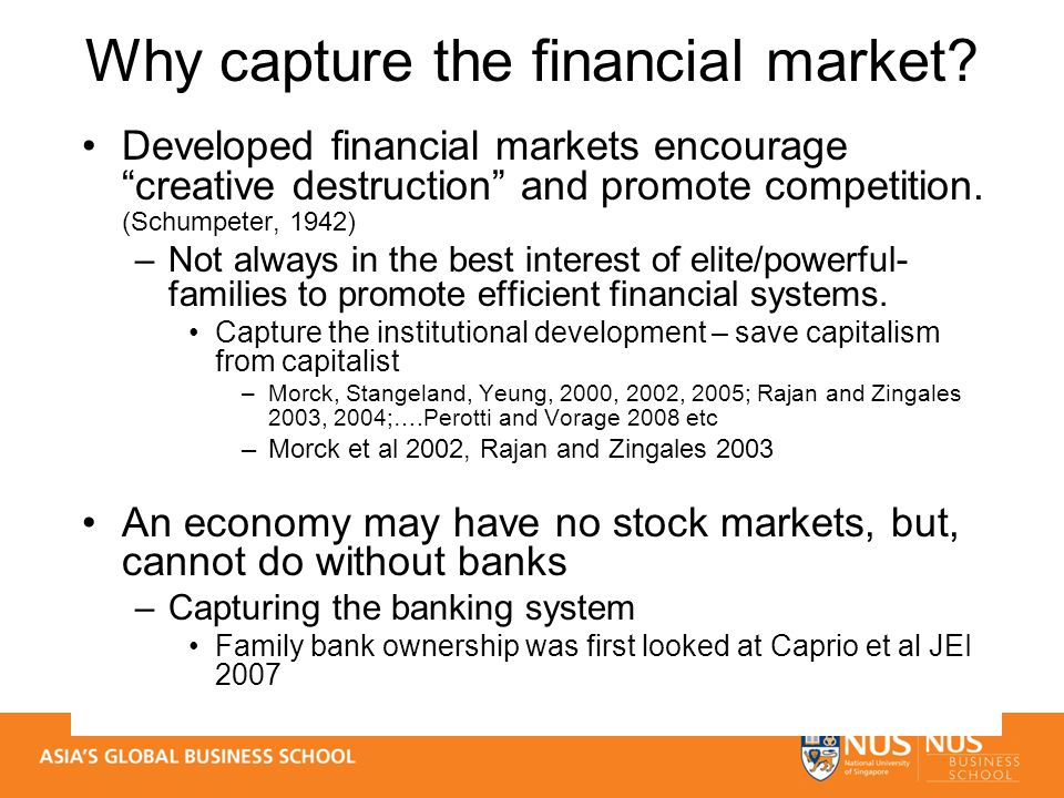 Why capture the financial market.