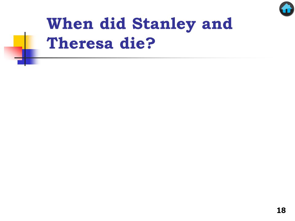 When did Stanley and Theresa die? 18