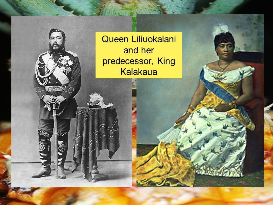 Queen Liliuokalani and her predecessor, King Kalakaua