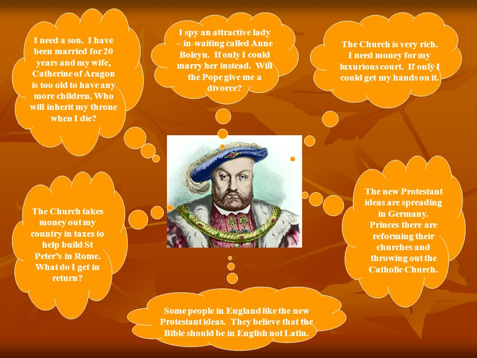 Henry VIII (cont.) When he wanted to marry the pregnant Anne Boleyn, Henry created the Church of England and banned the Catholic Church from his nation.