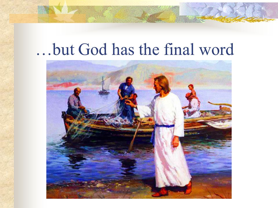 Jesus, God's final word (1) God's prophetic voice at its greatest In the past God spoke to our forefathers through the prophets at many times and in various ways, but in these last days he has spoken to us by his Son…