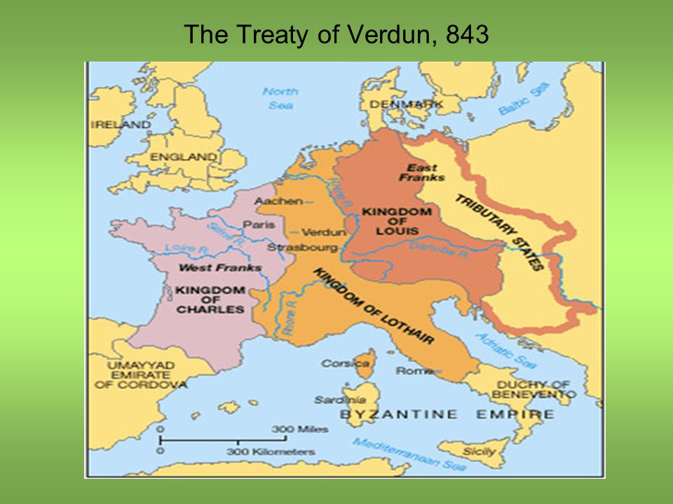 The Treaty of Verdun, 843