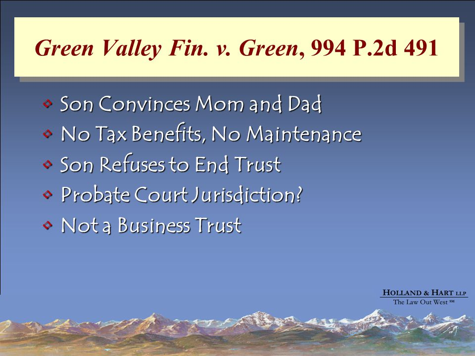 Green Valley Fin. v.