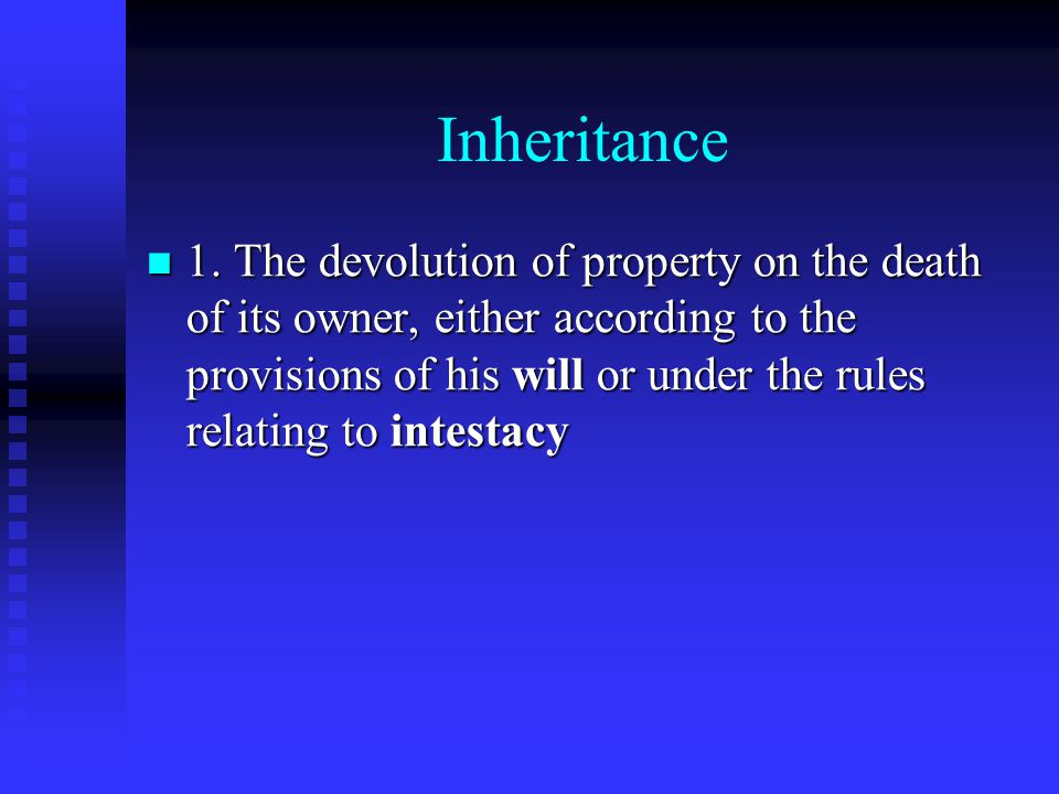 Will A document by which a person directs what should happen to their property after their death A document by which a person directs what should happen to their property after their death