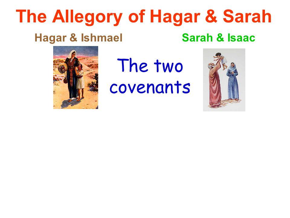 The Allegory of Hagar & Sarah Hagar & IshmaelSarah & Isaac The two covenants