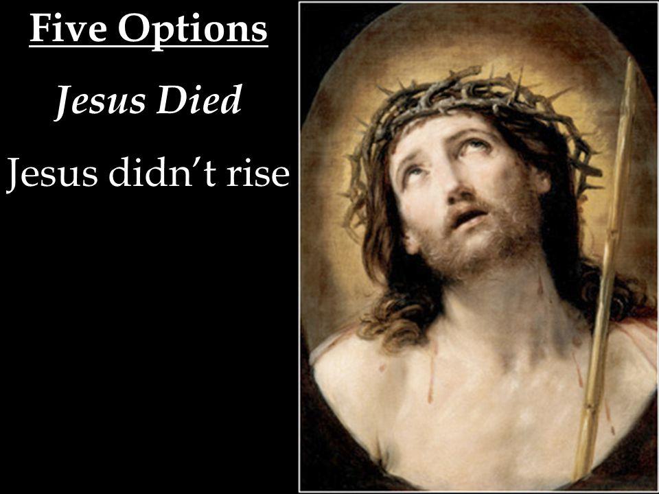 Five Options Jesus Died Jesus didn't rise