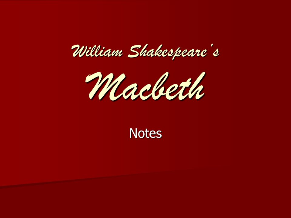Act 1 Scene 1 Summary Summary –The three witches are introduced.