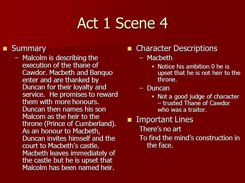 Macbeth Act 1 Scene 7 Essay