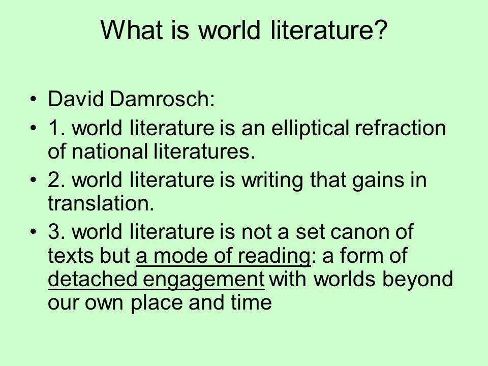 World literature vs.national literature.