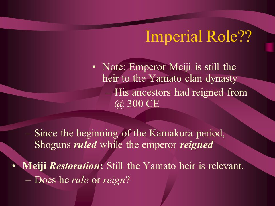 Imperial Role .