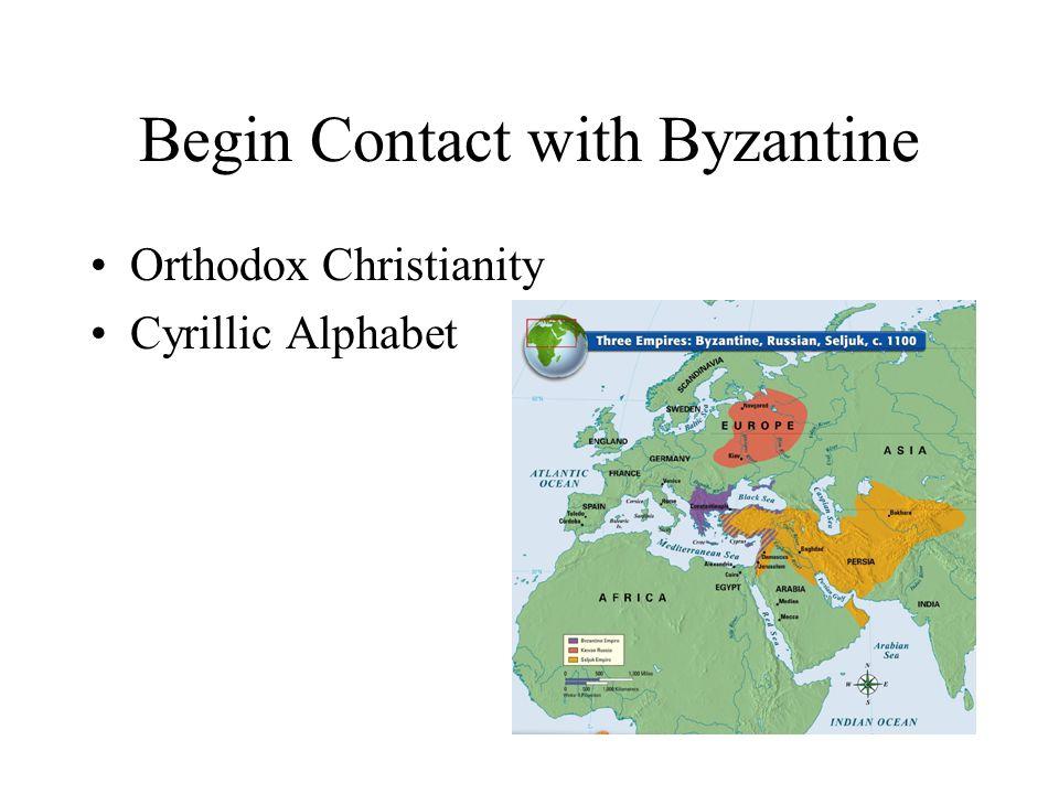 Begin Contact with Byzantine Orthodox Christianity Cyrillic Alphabet