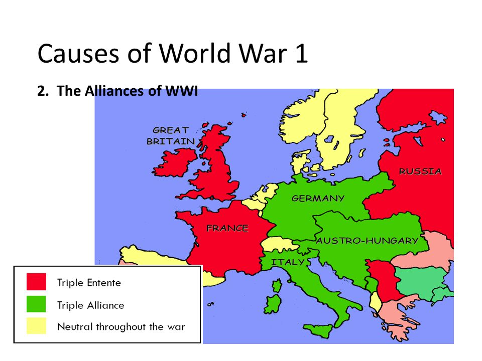 2. The Alliances of WWI Causes of World War 1