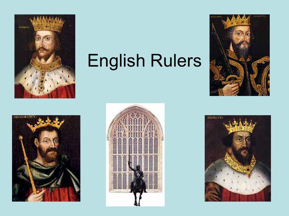 English Rulers