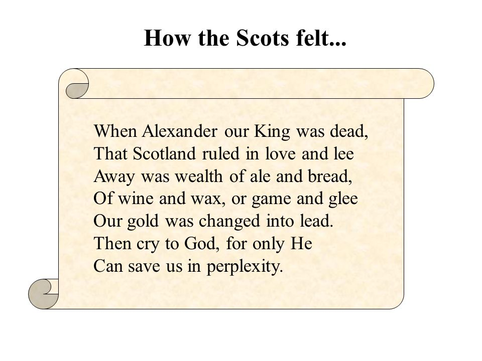 How the Scots felt...