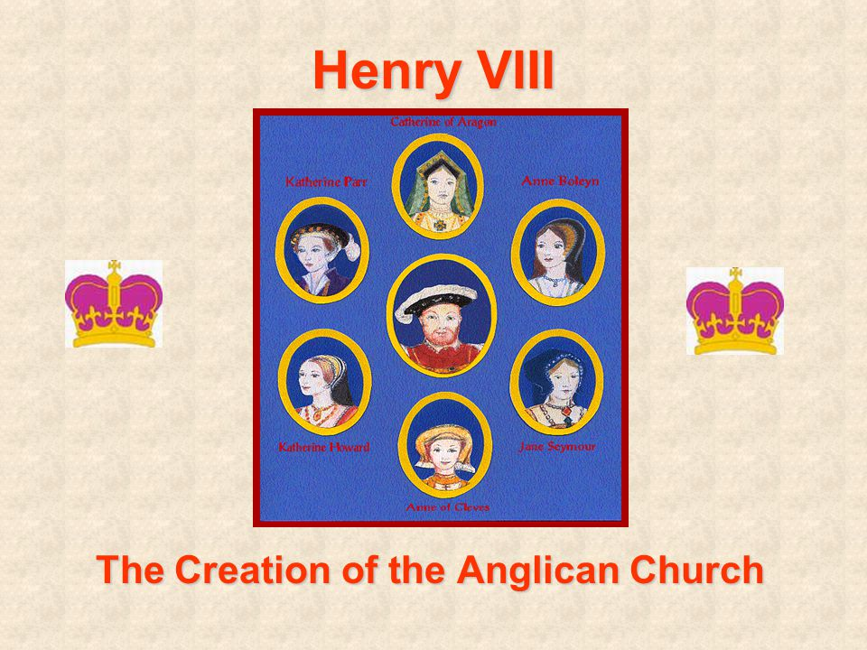Henry VIII The Creation of the Anglican Church