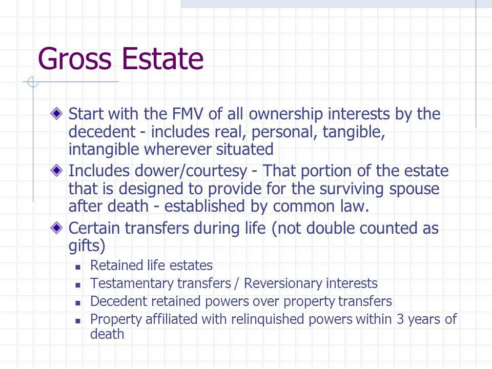 Stocks and Bonds Stocks & Bonds - includible in gross estate.