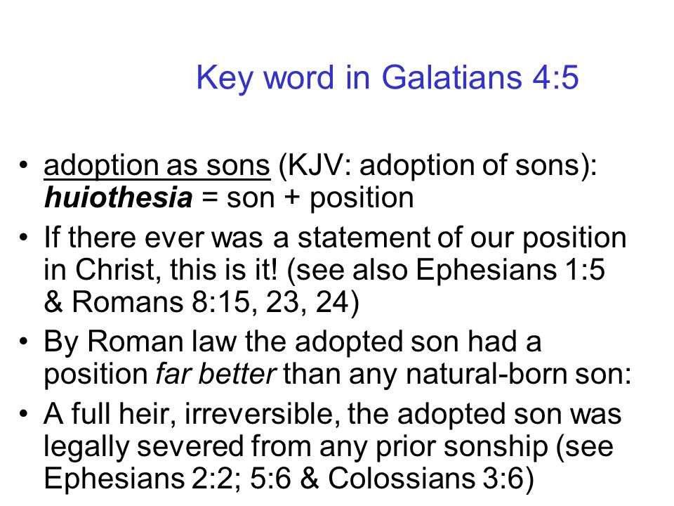 Adoption as sons was a new process originated in Roman law in order for a Roman Emperor to be assured of having an heir to the throne. Adoption as son