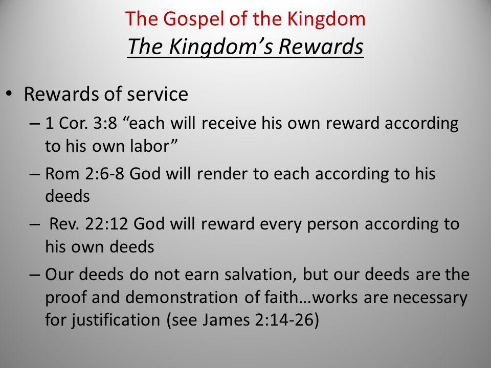 Rewards of service – 1 Cor.