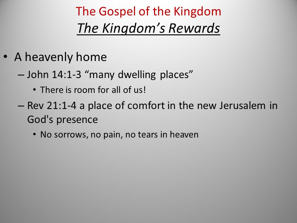 A heavenly home – John 14:1-3 many dwelling places There is room for all of us.